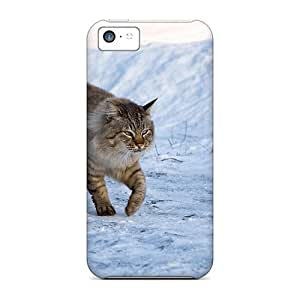Awesome Design Cat On The Snow Hard Cases Covers For Iphone 5c