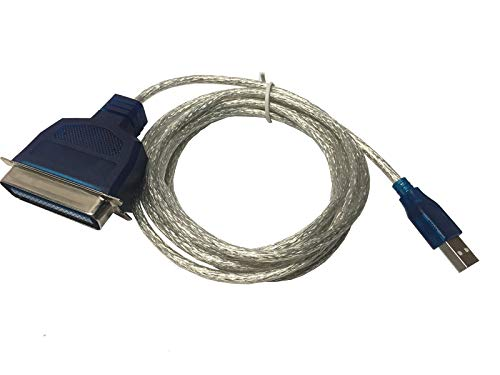 AYA 6Ft. USB to Parallel IEEE 1284 Printer Adapter Cable PC (Connect Your Old Parallel Printer to a USB Port) Win XP/7/8/10 and MAC OS Compatible