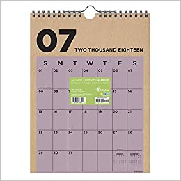 tf publishing 19 6215a july 2018 june 2019 kraft monthly wall calendar 9 x 12 multi colored