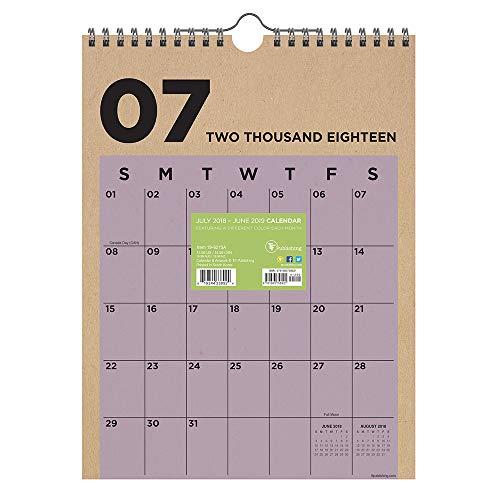 TF Publishing 19–6215un julio 2018–Junio 2019Kraft mensual calendario de pared, 9x 12', multicolor