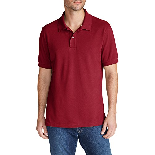 Price comparison product image Eddie Bauer Men's Field Short-Sleeve Polo Shirt,  Barn Red XXL