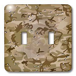 3dRose lsp_60447_2 Desert Gulf War Camouflage with Hidden Face Double Toggle Switch