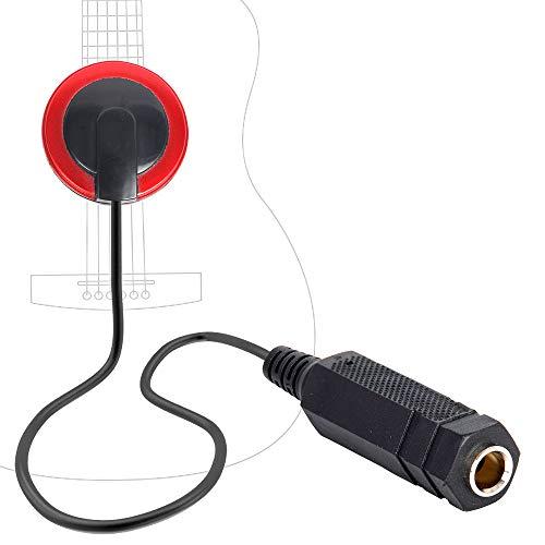 Contact Microphone Piezo Pickup Kalimba Microphone Pickup for Guitar Ukulele Violin, Mandolin, Banjo, Kalimba, Harp
