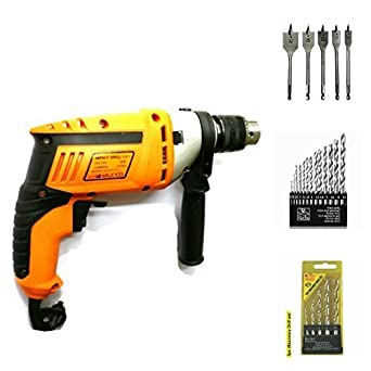 TOOLSCENTRE 13 mm Heavy Duty 500 Watt Hammer Drill Machine with Reverse/Forward and Speed Control Facility