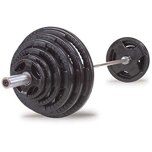 Rubber Olympic Weight Chrome Barbell