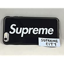 Apple iPhone 5 Phone Case | Ebony Black SUPREME | Slim Sleek Fit | Hardcover Back, Silicone Sides | Impact Resistant | Straight from NYC | Apple iPhone |
