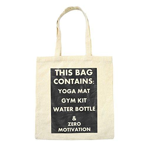 CONTAINS Bag Natural BAG Yoga Bag Linen Shopping Women's Library Gym Fashion Shopper THIS Cotton Beach Books Tote U1xqwanH
