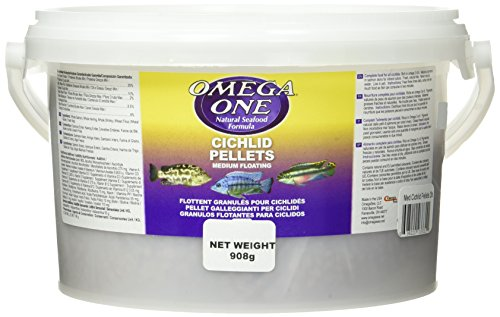 Omega One Medium Floating Cichlid Pellets Fish Food 2-Lbs.