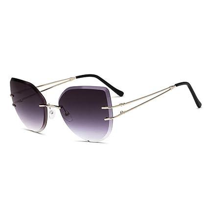 aa73934722 JIANGXIUQIN Gafas de Sol de Metal Damas Gafas graduadas de Gran tamaño  Vintage para Mujer con