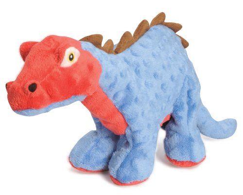 goDog Dinos Spike With Chew Guard Technology Tough Plush Dog