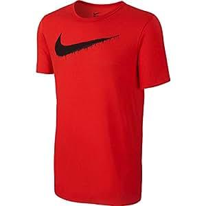 Nike Men's Frozen Swoosh Graphic T-Shirt Small Challenge Red