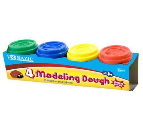 BAZIC 2 Oz. Multi Color Modeling Dough (4/Pack) by Bazic by Bazic (Image #1)