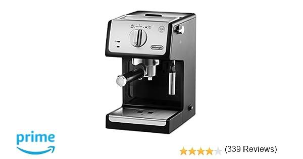 Delonghi ECP33.21 - Cafetera espresso, 1100w, capacidad 1,1l, café molido y monodosis, negro y plata