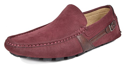 BRUNO MARC NEW YORK Bruno Marc Men's KENDO-02 Burgundy Penny Loafers Moccasins Shoes Size 12 M (02 Loafers)