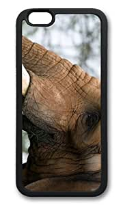 MOKSHOP Adorable elephant head Soft Case Protective Shell Cell Phone Cover For Apple Iphone 6 Plus (5.5 Inch) - TPU Black by icecream design