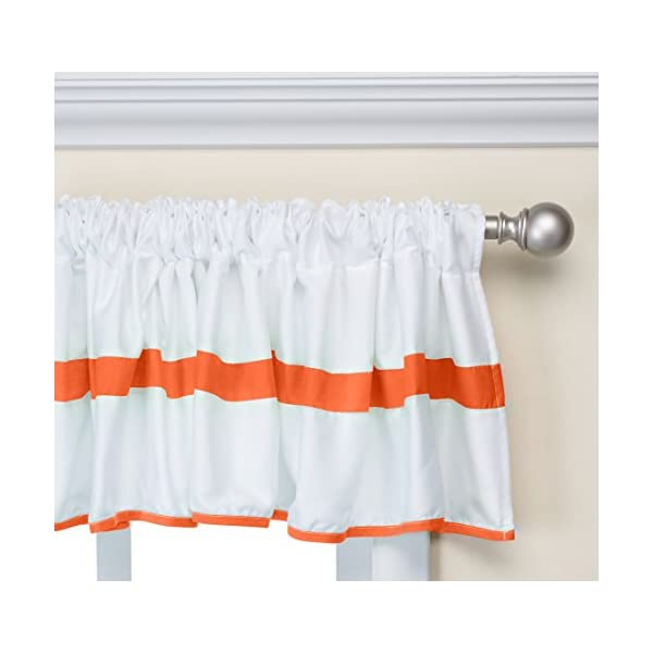 Baby Doll Bedding Modern Hotel Style Window Valance, Orange