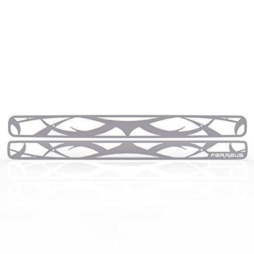 Ferreus Industries Grille Insert Guard Tribal Brushed Stainless fits 1998-2004 Chevy Blazer TRK-103-08-Brushed-a