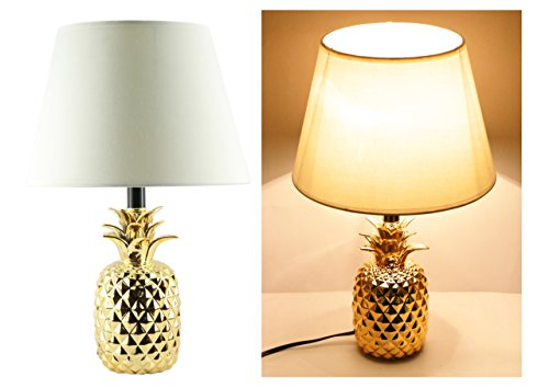 Gold Finish Table Lamps (1) by Brite Light (Childrens Ceramic Lamp)