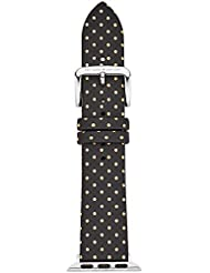 kate spade new york KSS0021 38mm Apple Straps Genuine Leather Multi-Color Watch Strap