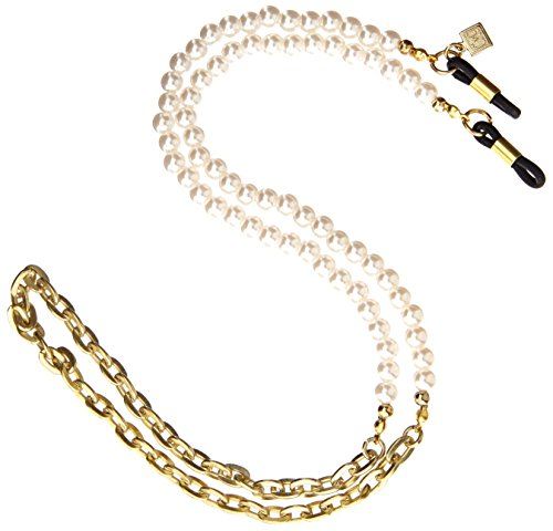 Corinne McCormack Women's 6 MM Faux Pearl With Chain,Peal,One Size