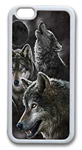 Eclipse Wolves Custom iphone 6 plus 5.5 inch Case Cover TPU White