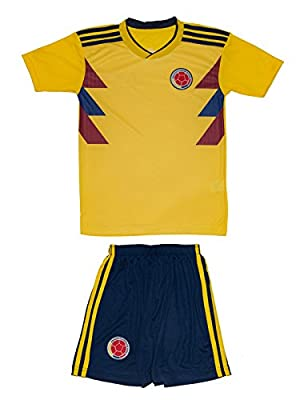 AMDS Soccer Youth Jersey Set ? Colombia ? Home Edition ? World Cup 2018