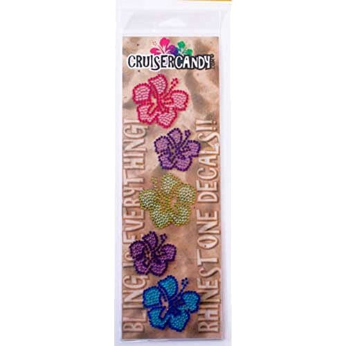 Cruiser Candy Bling Hibiscus Flower Bicycle Decals