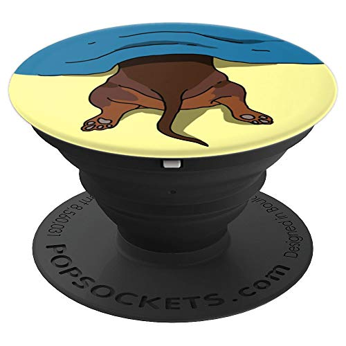 Dachshund Pop-Socket Dog Doxie Paw Yellow Cute Funny Gift - PopSockets Grip and Stand for Phones and - Cute Dachshund