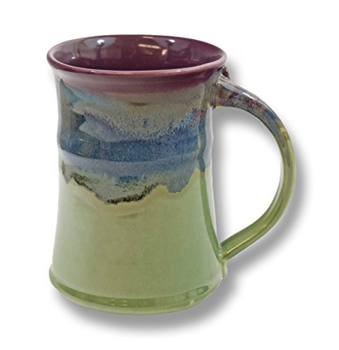 (Clay in Motion Handmade Ceramic Large Mug 20oz - Mossy Creek)