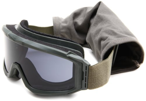 Bobster Alpha Ballistics Goggle, Green Frame/Smoke & Clear - Army Sunglasses Authorized