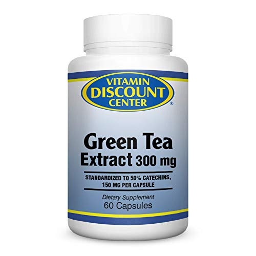 Vitamin Discount Center Green Tea Extract 300mg, 60 - 60 Capsules Egcg