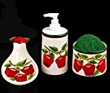 APPLE 3D Ceramic Kitchen 4 pcs Set NEW