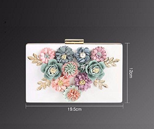 Xjtnlb Borse Sera Abiti Flower Borsa black Borse Tra Coreana Donne Black Versione E La Piccole Banchetti Cena Pearl rwvqP4r