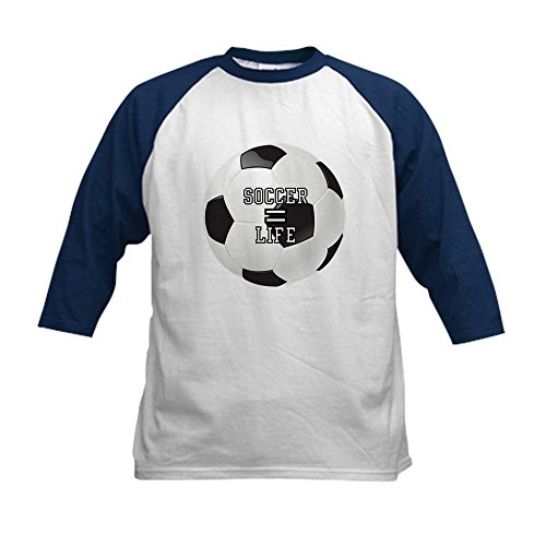 Royal Lion Kids Baseball Jersey Soccer Football Futbol Equals Life - Navy/White, Large (14-16)