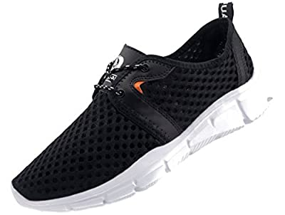 JUAN Men's Lightweight Athletic Quick Drying Mesh Aqua Slip-on Water Shoes