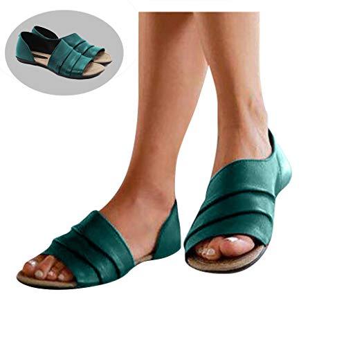 Women's Faux Leather Asymmetrical Sandal Casual Peep Toe Sandals Slip On Office Ladies Low Heel Shoes Brown