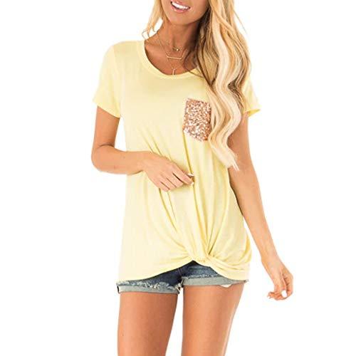 (Long Sleeve Shirt Women Short Sleeve Shirt Women 95s Shirts for Women Summer Tops for Women Yellow)