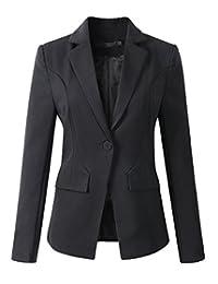 Womens Formal One Button Boyfriend Blazer Jacket