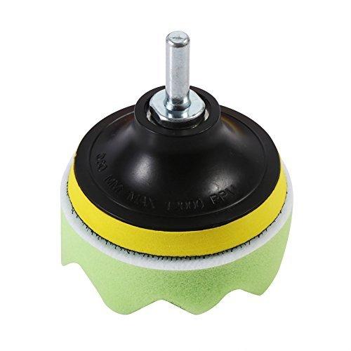 M10 Drill Adapter Car Cleaning Tools 6Pcs 4 Polishing Buffing Waxing Pads