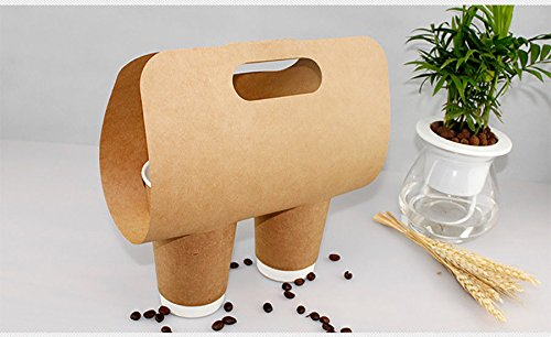 FidgetGear Cup Carriers paper plastic single double cup carrier 12-32oz 1-2 Cup 500/Carton from FidgetGear