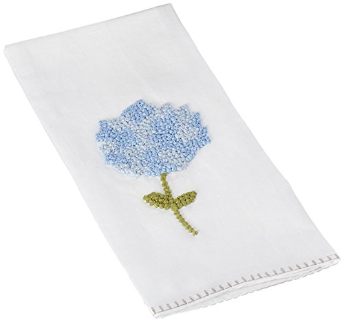 Mud Pie Hydrangea Decorative Towel, Blue