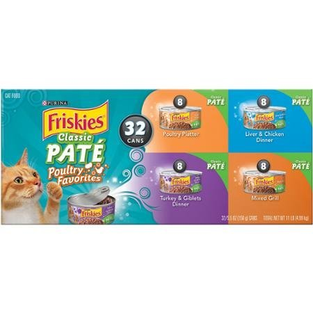 Purina Friskies Wet Cat Food, Classic Pate Poultry Favorites