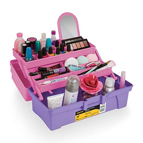 Pretul CCO-14RP Caja Cosmetiquera, 14', rosa/morado