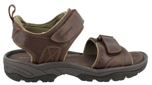 (Rockport Men's Rocklake Flat Sandal, Brown/Brown, 9.5 W)