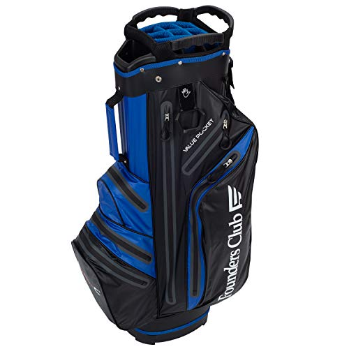 Founders Club Waterproof Golf Cart Bag Ultra Dry for Rainy Days on The Golf Course Light Weight 14 Way Full Length Divider Plus External Putter Tube (Blue)