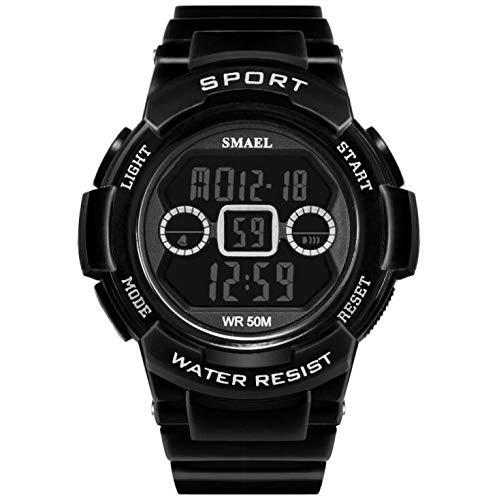 Reloj Deportivo para Hombre Reloj Digital Multifuncional Impermeable para Cuenta Regresiva/Temporizador/Reloj análogo para Hombre, Negro: Amazon.es: Relojes