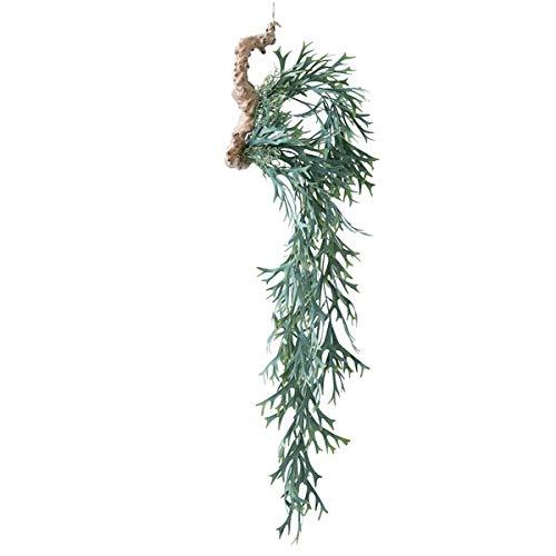 人工観葉植物 ビカクシダ着生ブルー(12個セット) ba750 吊るしタイプ (代引き不可) インテリアグリーン 造花 HANGING B07SYWWC6L