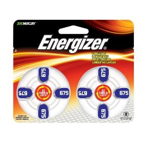 Energizer Batteries Az675 Ez Turn And Lock Hearing Aid Size Az675 8 CT (Pack of 12) ()