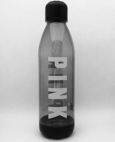 a16ee658215f Victoria s Secret Pink Clear Water Bottle Black White Logo