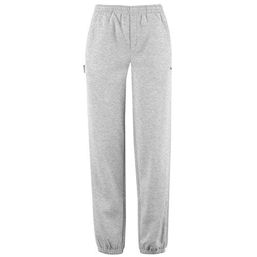 Slazenger Junior Grande niños Gris Fleece Jogging Pantalones de ...